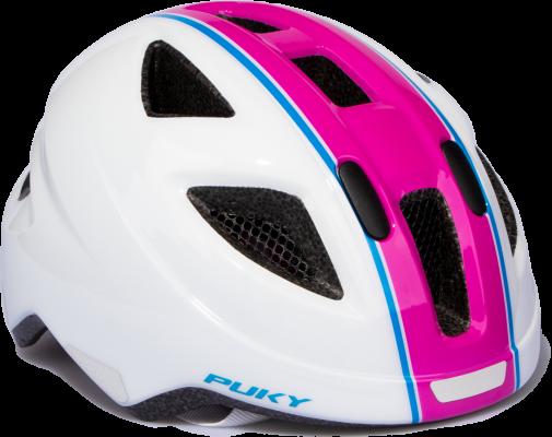 Puky pyöräilykypärä koko 51-56 cm (pinkki-valkoinen)