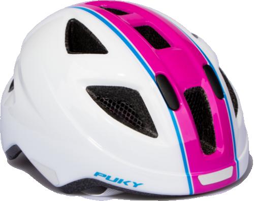 Puky cykelhjälm 51-56 cm (rosa-vit)