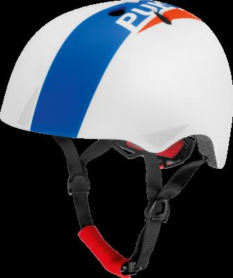 Puky pyöräilykypärä koko 50-54 cm (valkoinen/sininen/punainen)