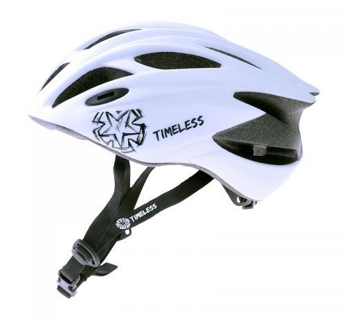 Timeless Rider cykelhjälm för vuxna/juniorer (vit)