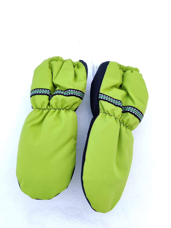 Vinterhandskar för barn limegrön