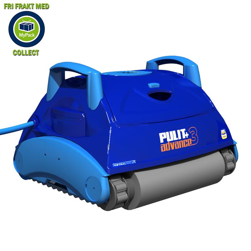 Poolrobot Pulit Advance+ 3 med gyro teknik tredimensionella filter och dubbla drivmotorer.