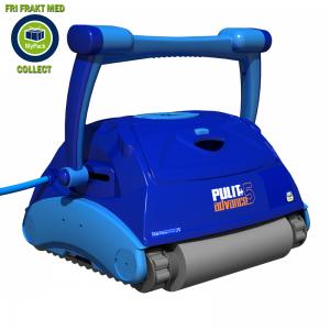 Poolrobot Pulit Advance+ 5. Städar väggar, botten och vattenlinjen
