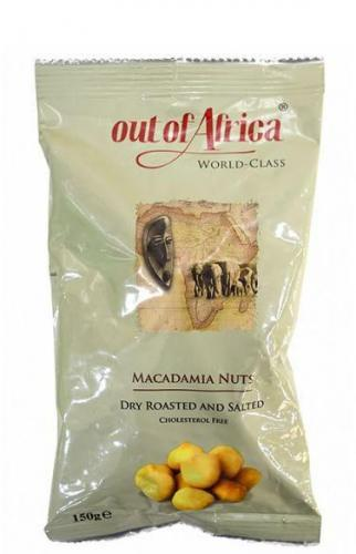 OUT OF AFRICA, Macadamianötter, R/S, 150gr