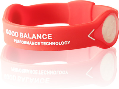 GOOD BALANCE ARMBAND, RÖTT MED VIT TEXT