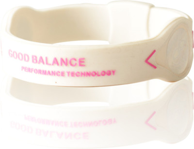 GOOD BALANCE ARMBAND, VITT MED ROSA TEXT