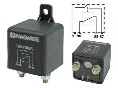 Relä Nagares/Mahle 12V 100A