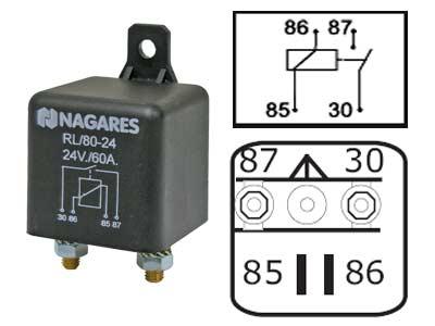 Relä Nagares 24V 60A