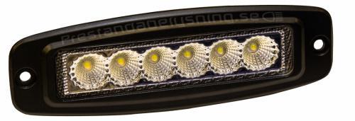 18W SlimLine LED backljus och Arbetslampa. - För Inbyggnad!