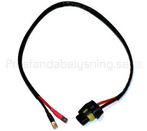 40cm strömanslutningskabel med 2-polig AMP kontakt