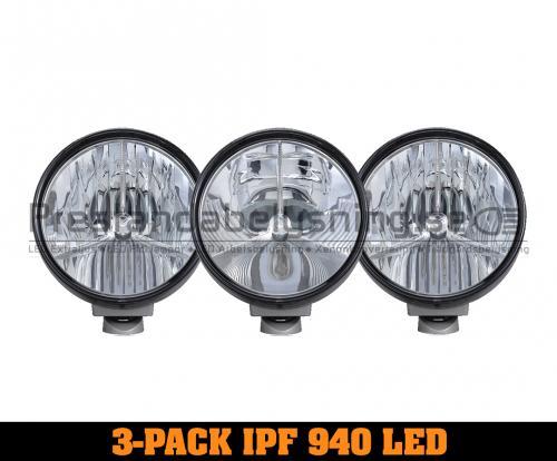 3-Pack IPF 940 SRL3 Premium LED extraljus