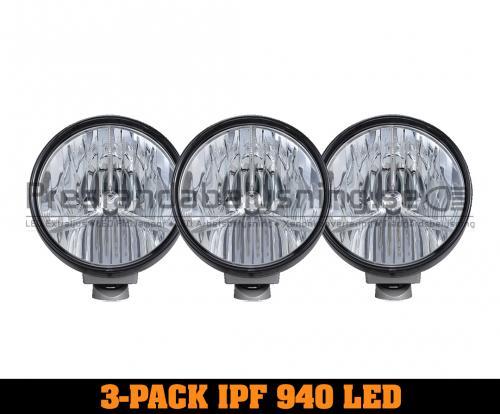 3-Pack IPF 940 SRL2 Premium LED extraljus