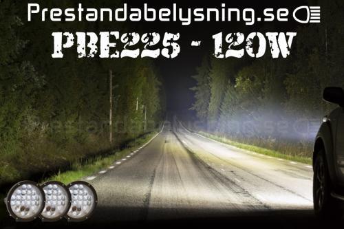 PBE225 120W LED Extraljus 3-pack inkl hållare