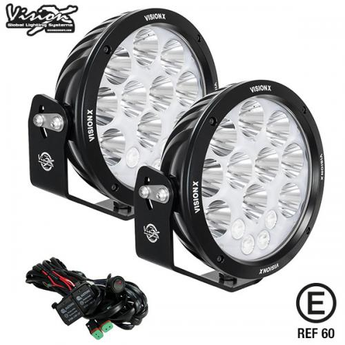 "VISION X LIGHT CANNON ADVENTURE 8.7"" 280W HALO LED EXTRALJUSKIT 2 ST E-MÄRKT"