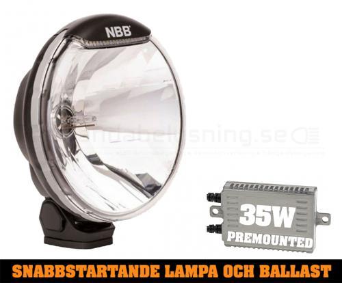 NBB225 Premounted- 35w Snabbstart Xenon extraljus