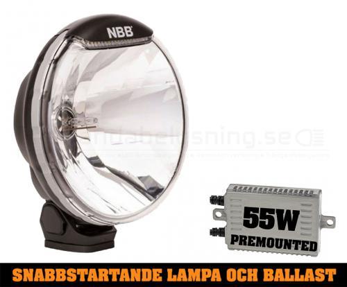 NBB225 Premounted- 55w Snabbstart Xenon extraljus