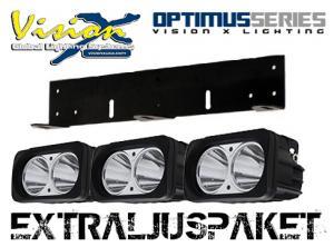 Vision X Optimus Dual LED extraljusramp (komplett paket)