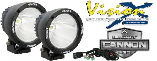 "Vision X Light Cannon 4,5"" -  25w LED extraljus - 2pack"