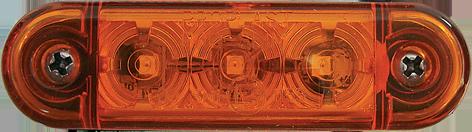 Sidomarkeringsljus Gul, PRO-SLIM, 24V