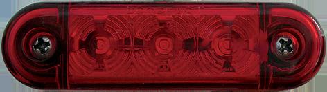 Positionsljus Röd, PRO-SLIM, 24V