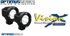 Vision X Optimus Round 10w LED extraljus - 2pack
