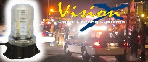 LED blixtfyr / rotella GUL - Vision X