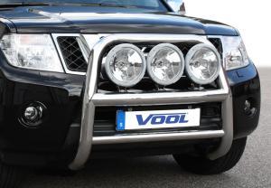 Nissan Navara D40 (King Cab) 2010 - 76mm Rostfri frontbåge med färdiga fästen för ext