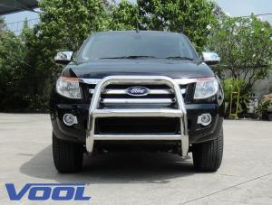 Ford Ranger 2012 - MODELL STOR- 76MM  Rostfri frontbåge med fästen för extraljus
