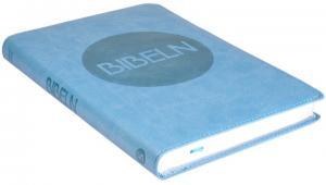 Bibel 2000 - Slimline -ljusblå Cabra mjukband silversnitt, 2018x140x18mm