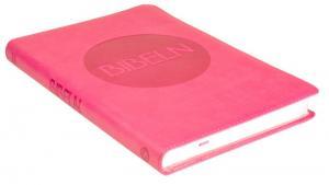 Bibel 2000 - Slimline - rosa, cabra, mjukband, silversnitt, 2018x140x18mm