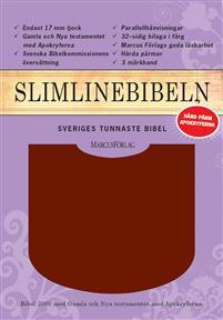 bibel 2000 - vinröd, hårdband, guldsnitt, 220x150x22mm