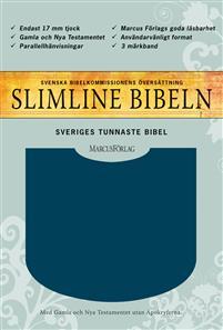 bibel 2000 - mörkblå, hårdband, cabraskinn, silversnitt 220x150x22mm