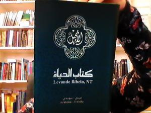 NT-Arabiska-Svenska, Levande Bibeln, grön, mjukband. 170x113x28m