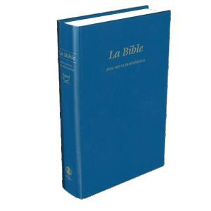 LA BIBLE, FRA, BLÅ, avec notes de reference, INBUNDEN 212X150X31MM