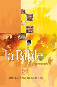 LA BIBLE, FRA, orange, avec notes de reference, INBUNDEN 212X150X31MM
