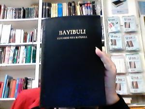 Bibel , LUGANDA BAYBULI, svart, stor, mjukband