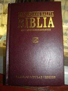 BIBLIA TAMIL BALITA OXBLODSRÖD, HÅRDBAND, LARGE,