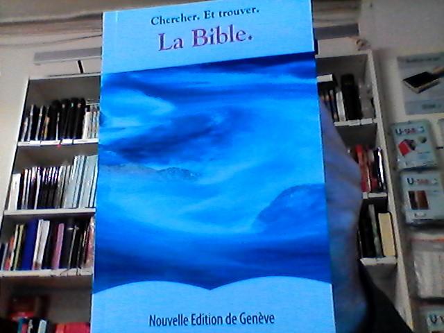 Bibel (FRA) blå-vit pocket