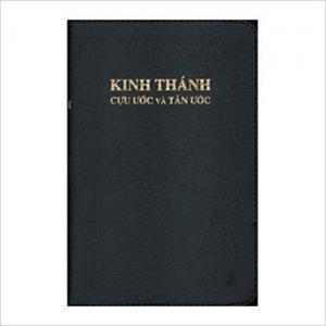 Bibel Vietnamesiska, mörkblå, stor, mjuk band.