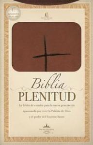 Biblia Plenitud, NVI, brun, Stort format, mjukt band.