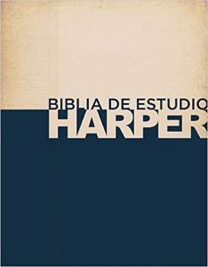 Biblia RVR 1960 De estudio, stort format, hård pärm.Harper Caribe.