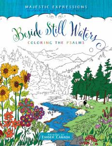 Beside still water, adult coloring book