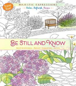 Be still and know, travel size, adult coloring book