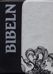 Bibel 2000 Magnetlås svart&grå