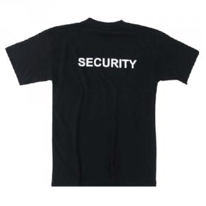 T-shirt Security, Svart