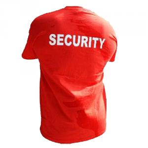 T-shirt Security, Röd