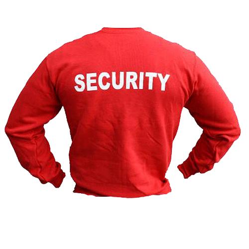 Collegetröja Security, Röd