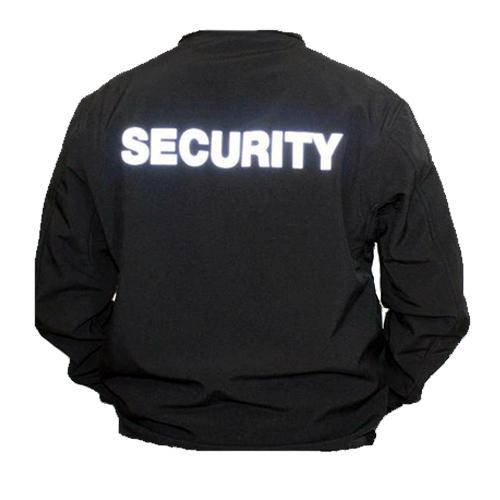 Collegetröja Security, Svart