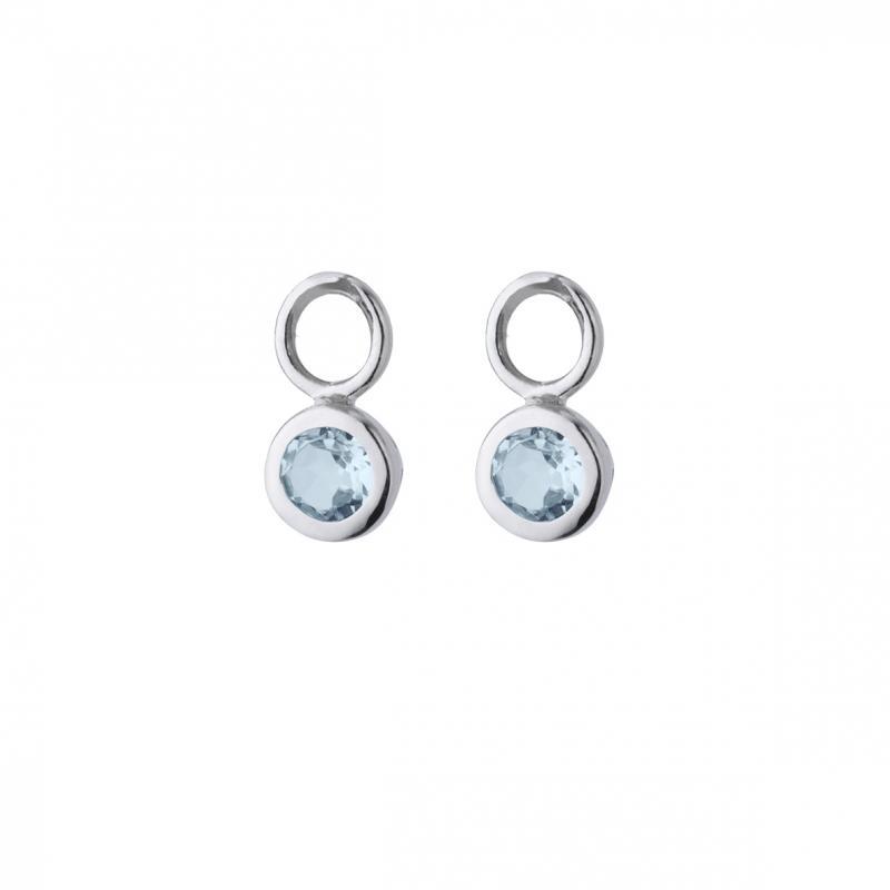 Hängen med blå topas/silver 925