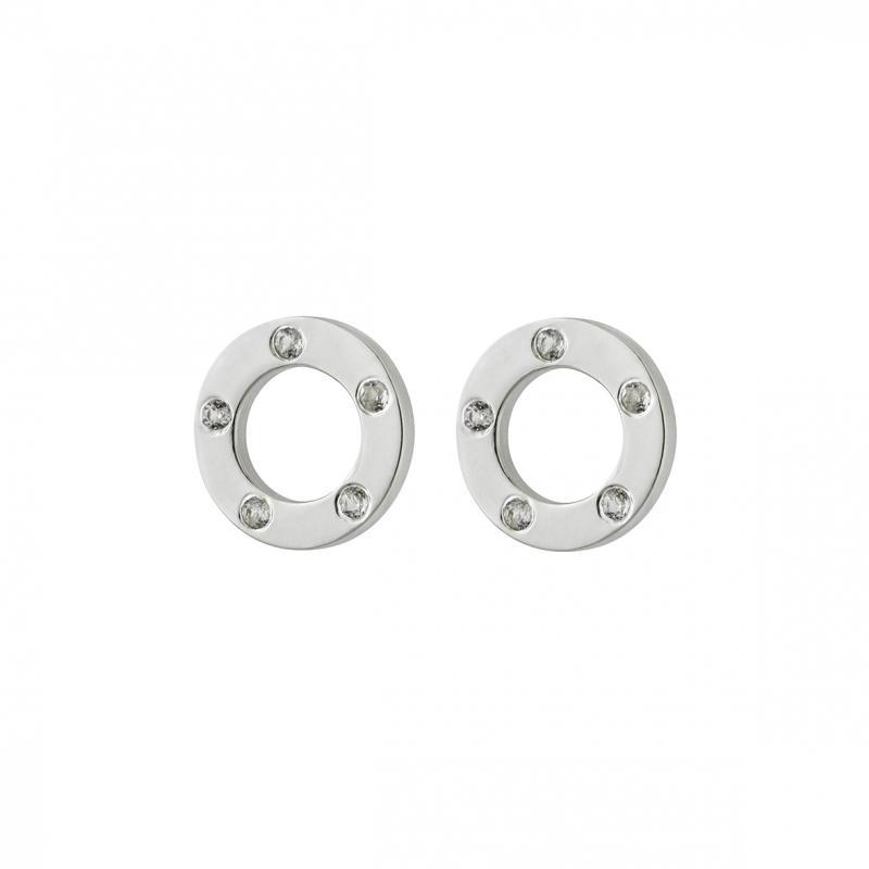 Ringar i silver med vita topaser